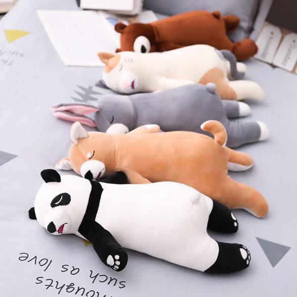 ぬいぐるみ クッション 動物 抱き枕 柴犬 うさぎ パンダ くま ねこ ふわふわ 誕生日プレゼント45cm|beluhappines