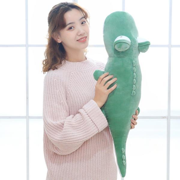 ぬいぐるみ 鰐 わに かわいい おもちゃ ふわふわ インテリア雑貨 お祝い 景品 80cm|beluhappines