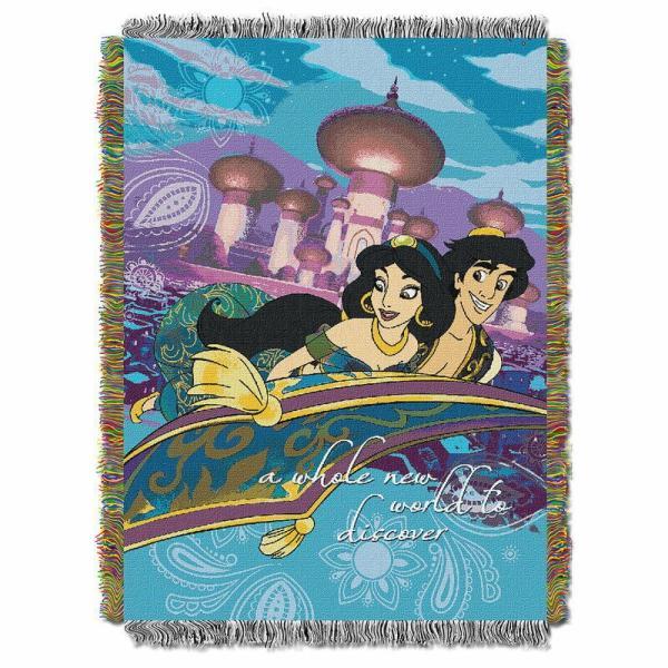 ディズニー Disney US公式 アラジン ジャスミン プリンセス スロー 毛布 掛け布団 壁がけ タペストリー 装飾 テープ [並行輸入品]|bemagical