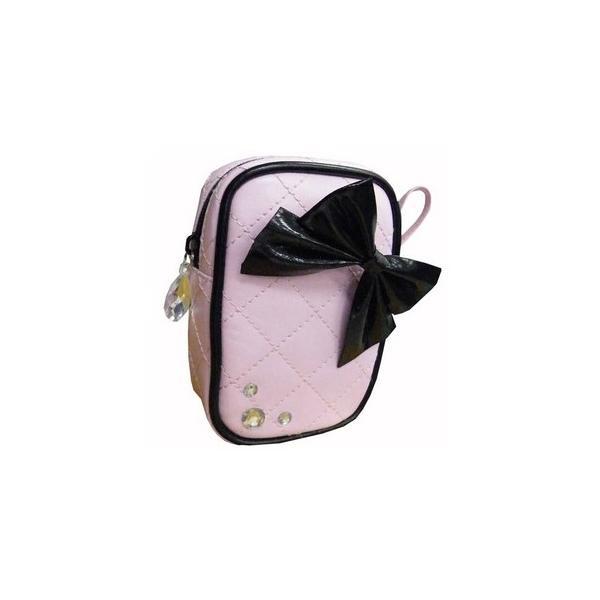 小物ポーチ ピンク リボンシリーズ 〔2個セット〕