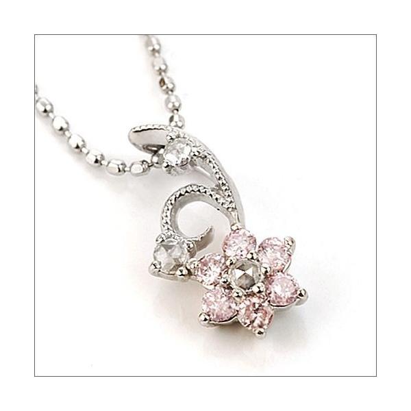 ペンダント レディース ルクリア Luculiaピンクダイヤモンド ローズカットダイヤ ペンダント/ヘッドのみ 誕生石 4月 春色ピンク