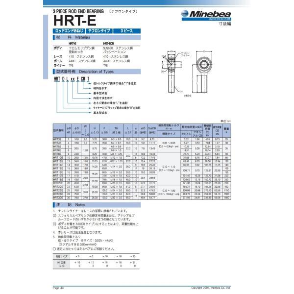 HRT16E(おねじ) NMB  ミネベアミツミ  ロッドエンドベアリング テフロンタイプ|benet|02