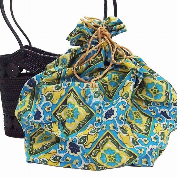 アタバッグ 籠バッグ アタバック 籠巾着 きんちゃく かご巾着 カゴ巾着 かご カゴ