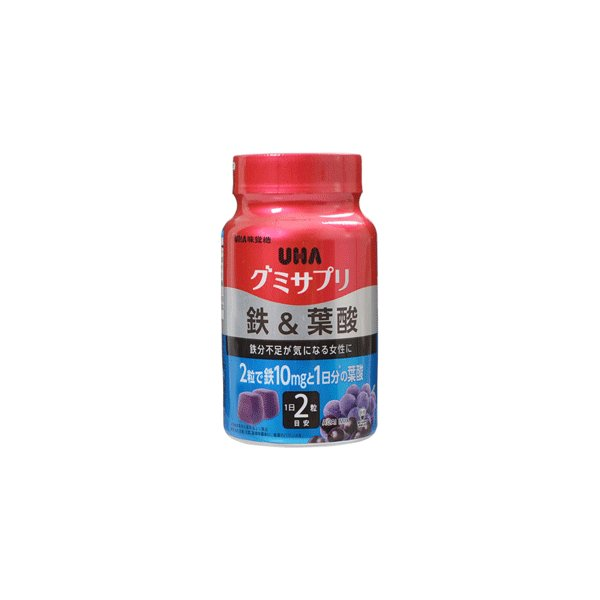 UHA味覚糖 グミサプリ 鉄&葉酸 30日分 60粒 benkyoannexx