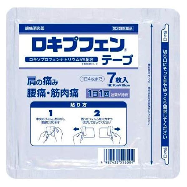 第2類医薬品 ロキプフェンテープ(袋)7枚入×6個セット※セルフメディケーション税制対象商品