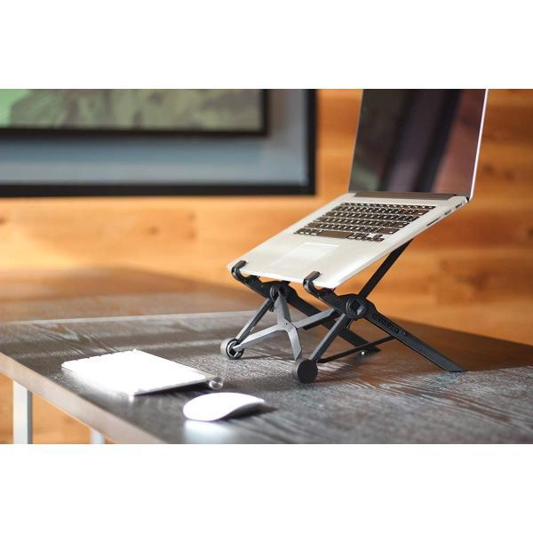 ノートパソコンスタンド ラップトップスタンド 折り畳み式 PCスタンド コンパクト 軽量 頑丈 持ち運び便利 8段階調整可能 肩こり 腰痛対 benriithiban 03