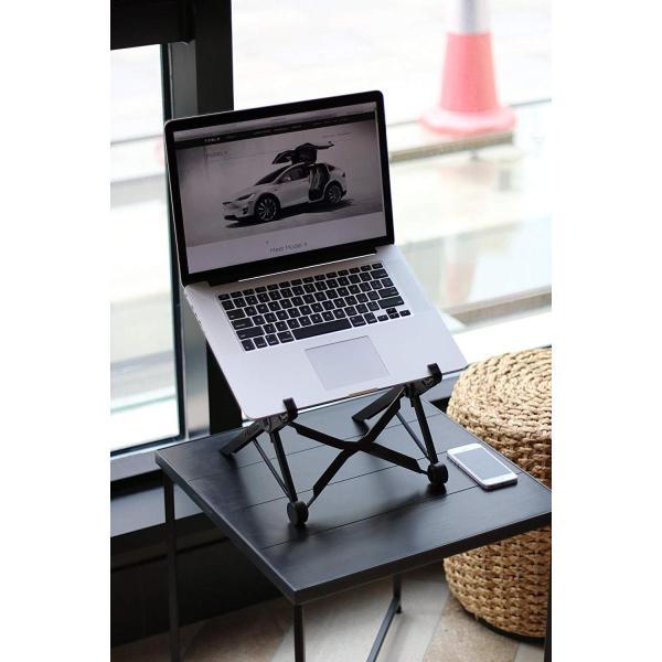 ノートパソコンスタンド ラップトップスタンド 折り畳み式 PCスタンド コンパクト 軽量 頑丈 持ち運び便利 8段階調整可能 肩こり 腰痛対 benriithiban 05
