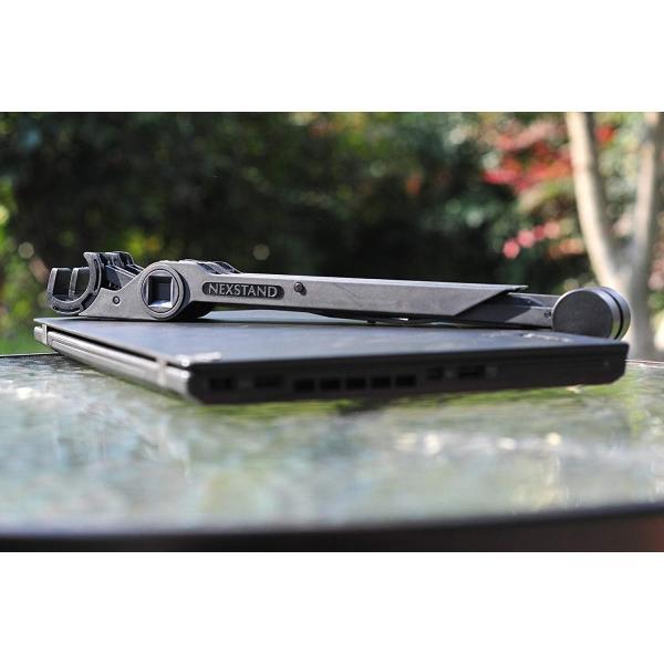 ノートパソコンスタンド ラップトップスタンド 折り畳み式 PCスタンド コンパクト 軽量 頑丈 持ち運び便利 8段階調整可能 肩こり 腰痛対 benriithiban 06