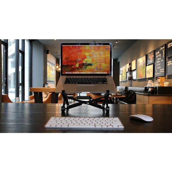 ノートパソコンスタンド ラップトップスタンド 折り畳み式 PCスタンド コンパクト 軽量 頑丈 持ち運び便利 8段階調整可能 肩こり 腰痛対 benriithiban 07