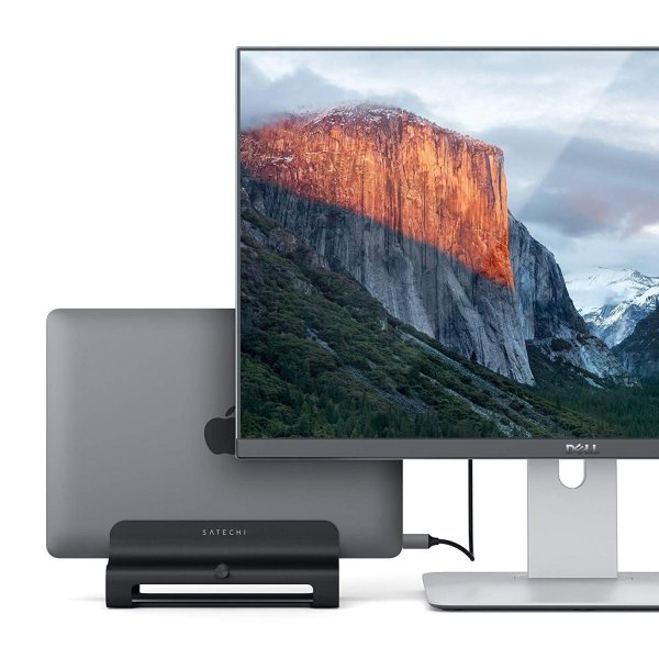 Satechi ユニバーサル バーティカル アルミニウム ラップトップスタンド (MacBook, MacBook Pro, Dell XP|benriithiban|03
