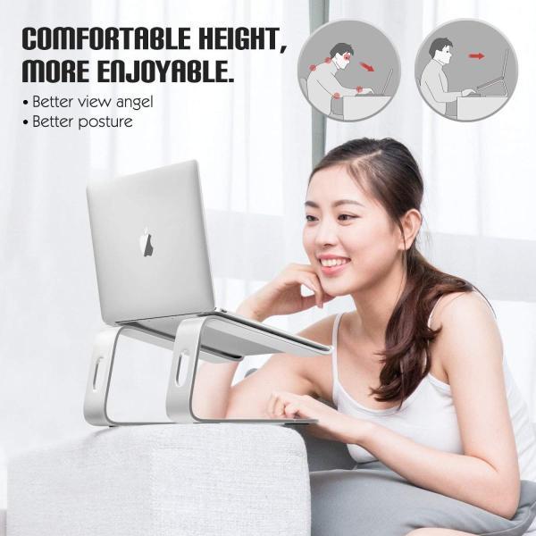 ラップトップ スタンド - ATiC アルミニウム合金製 取り外し可能 ノートパソコン ノート PC スタンド Macbook Pro/Ai benriithiban 07