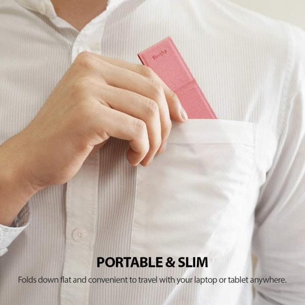 Ringke Laptop Stand ノートパソコンラップトップ折りたたみ式 スタンド Pink ピンクユニバーサルスマートフォールディン benriithiban