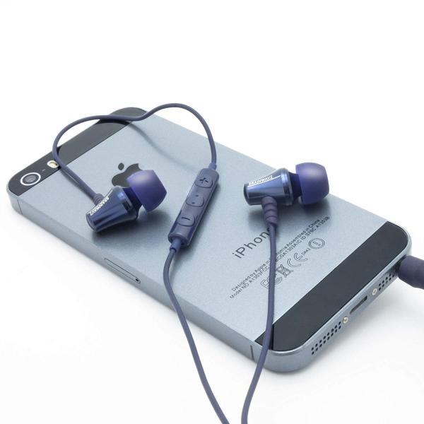 Brainwavz Jive Blue ブルー カナル型イヤホン 高解像度タイプ メタル・ハウジング仕様 マイク