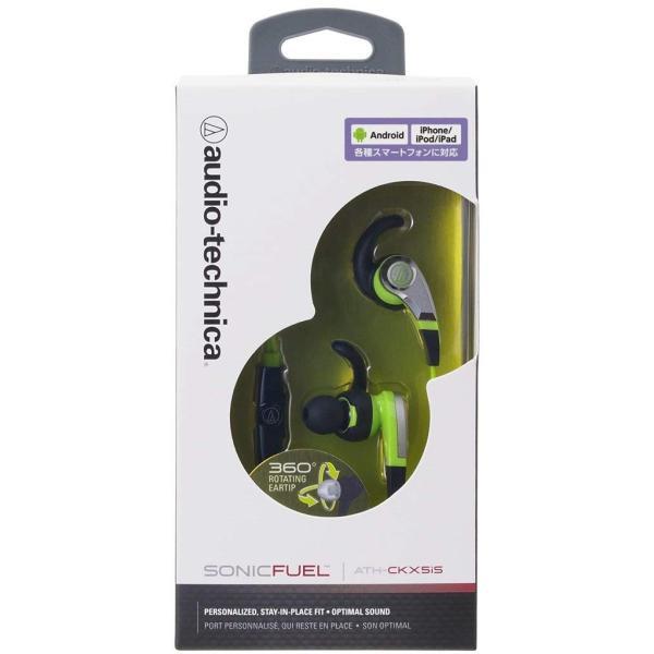 audio-technica SONIC FUEL カナル型イヤホン スマートフォン用 グリーン ATH-CKX5iS GR