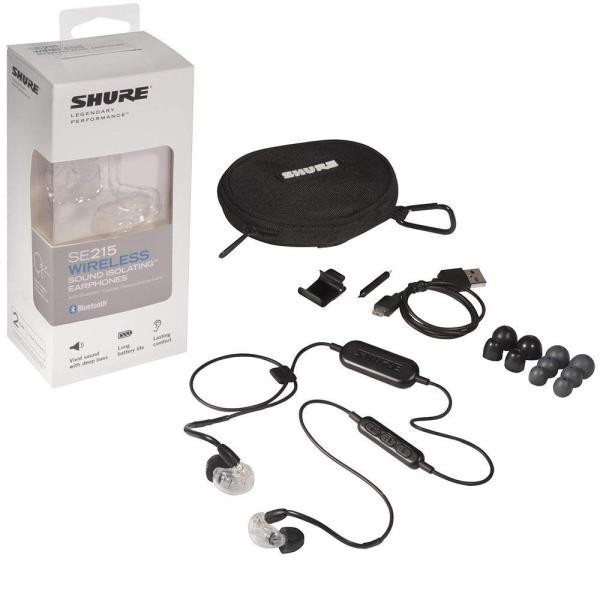 SHURE ワイヤレスイヤホン BT1シリーズ SE215 Bluetooth カナル型 高遮音性 クリアー SE215-CL-BT1-A