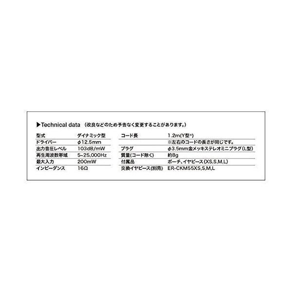オーディオテクニカ インナーイヤーヘッドホン メタリックレッド ATH-CKR50 RD