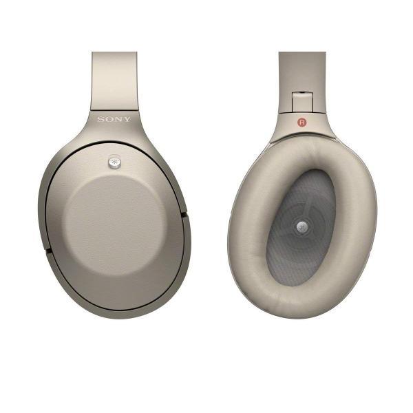 ソニー SONY ワイヤレスノイズキャンセリングヘッドホン MDR-1000X : Bluetooth/ハイレゾ対応 マイク付き グレーベー