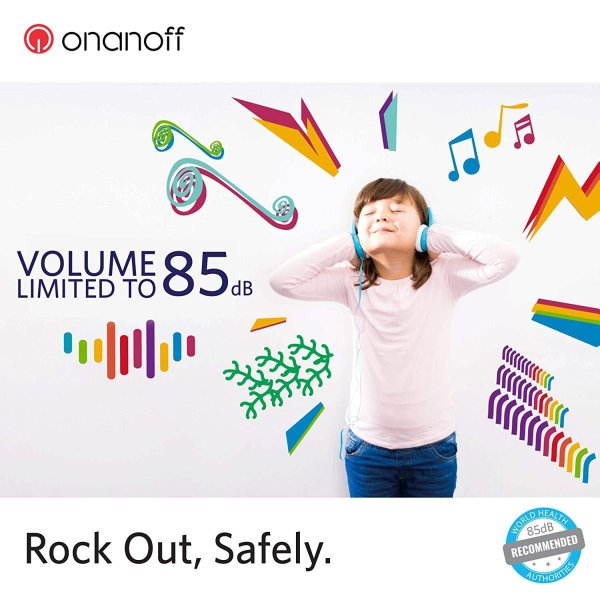国内正規品Onanoff(オナノフ) BuddyPhones 子供の耳にやさしい音量制限構造 (ムーミン,ブルー) 976199