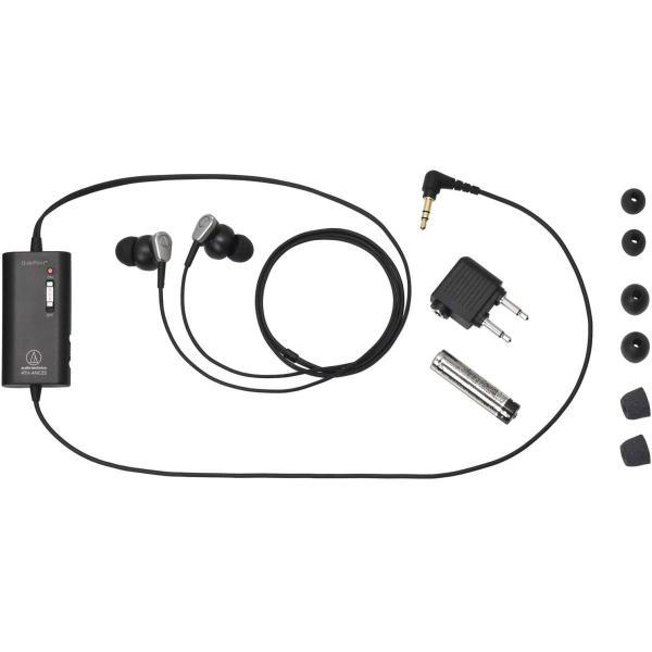 audio-technica カナル型イヤホン ノイズキャンセリング ブラック ATH-ANC23 BK