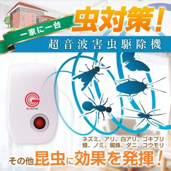 バグバスター 害虫駆除 360度シャットアウト 省エネ 害虫撃退 日本語説明書 benriithiban 07