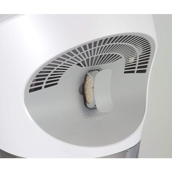 カモメ 加湿器 ハイブリッド式 クレベリン LED搭載 パールホワイト KKHQ-651C