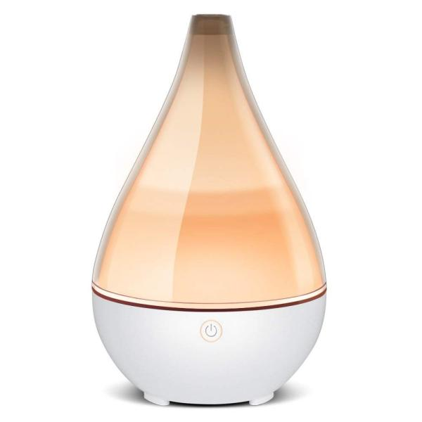 InnoGear 花瓶型アロマディフューザー 超音波式 加湿器 空気清浄機 空焚き防止 200ml 呼吸ledライト 会社/部屋/ヨガ室適用