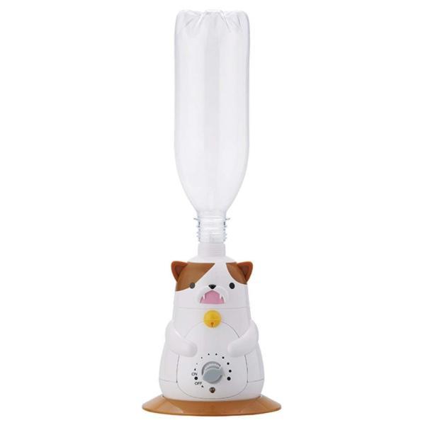 APIX 超音波式猫型ペットボトル加湿器 ホワイト AHD-127-WH
