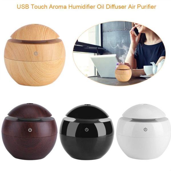 USB アロマ加湿器 超音波 自動的 卓上加湿器 130ml LEDライト エアコン乾燥 省エネ 静音 家庭用 ベッドルーム オフィス 車用