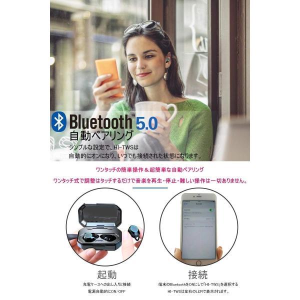 2018最新進化版 Bluetooth 5.0 IPX7完全防水ワイヤレス イヤホン Bluetooth イヤホン IMAGING BUSI