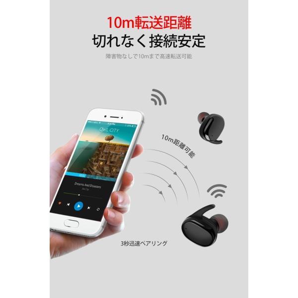 PZX Bluetooth イヤホンタッチ型左右分離型 片耳でも両耳でも使用可能 高音質 マイク付き 超軽量 Bluetooth4.2 ワイ