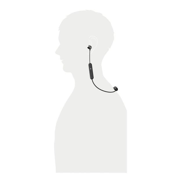 ソニー SONY ワイヤレスイヤホン WI-C300 : Bluetooth対応 最大8時間連続再生 マイク付き 2018年モデル ブラック|benriithiban|08