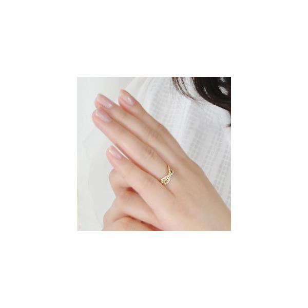 K18 YG ゴールド ダイヤモンド ダイヤ 指輪 リング エンドレス インフィニティ 無限大 永遠 BRR-0059
