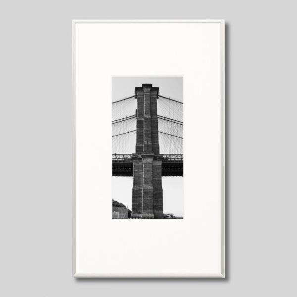 IGREBOW アイグレボウ インテリアフォト アルミフレーム Mサイズ モノクローム アメリカ ニューヨーク ブルックリンブリッジ