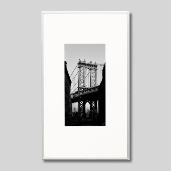 IGREBOW アイグレボウ インテリアフォト アルミフレーム Mサイズ モノクローム アメリカ ニューヨーク マンハッタンブリッジ