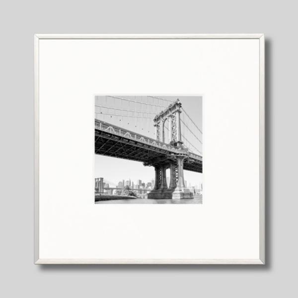 IGREBOW アイグレボウ インテリアフォト アルミフレーム Sサイズ モノクローム アメリカ ニューヨーク 橋 マンハッタンブリッジ