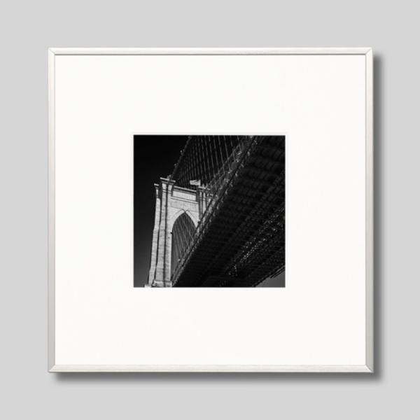 IGREBOW アイグレボウ インテリアフォト アルミフレーム Sサイズ モノクローム アメリカ ニューヨーク ブルックリンブリッジ