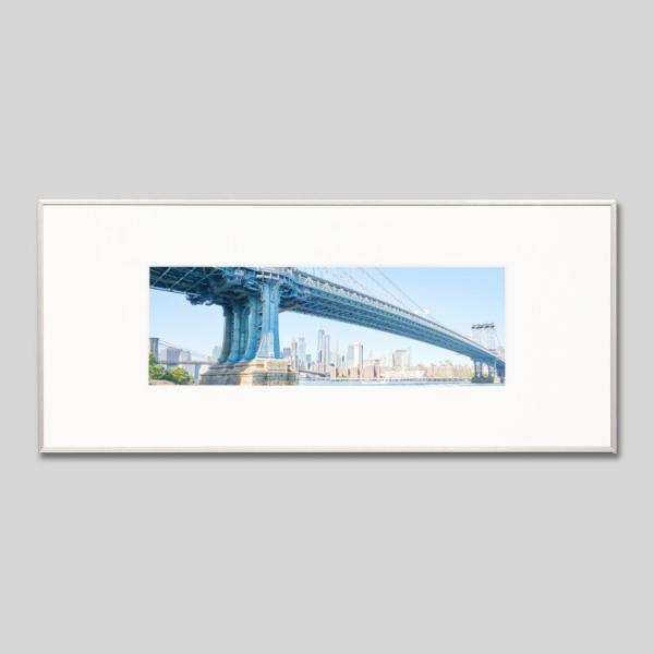 IGREBOW アイグレボウ インテリアフォト アルミフレーム Lサイズ カラー写真 アメリカ ニューヨーク マンハッタンブリッジとマンハッタン