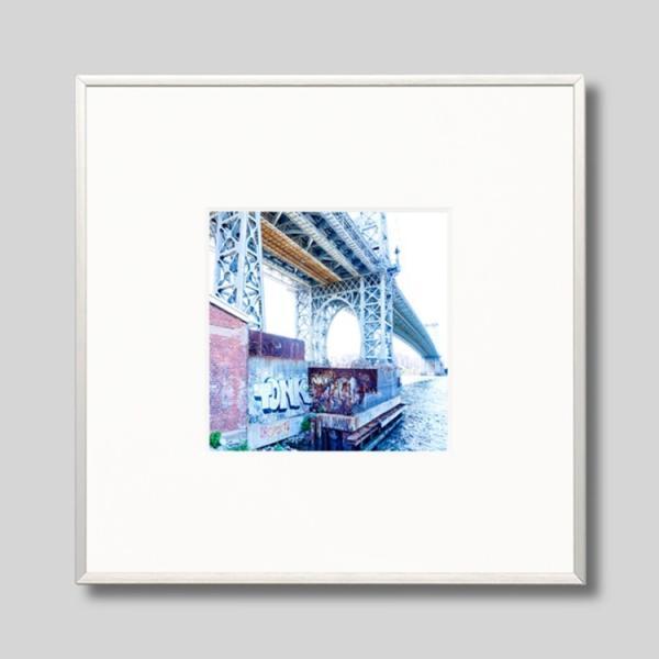 IGREBOW アイグレボウ インテリアフォト アルミフレーム Sサイズ カラー写真 アメリカ ニューヨーク ウィリアムズバーグブリッジ