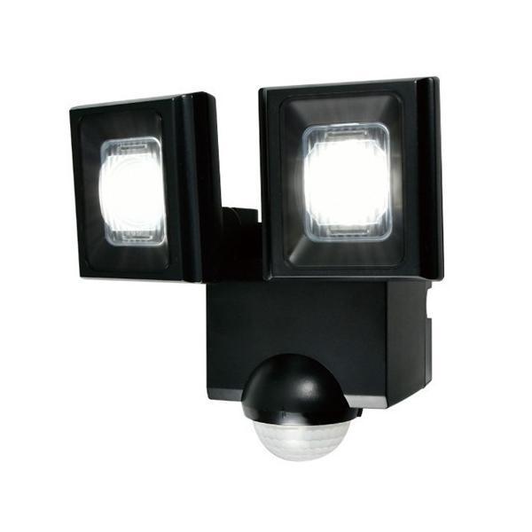 ELPA ESL-N112DC 屋外用LEDセンサーライト 乾電池式 2灯 白色/乾電池式