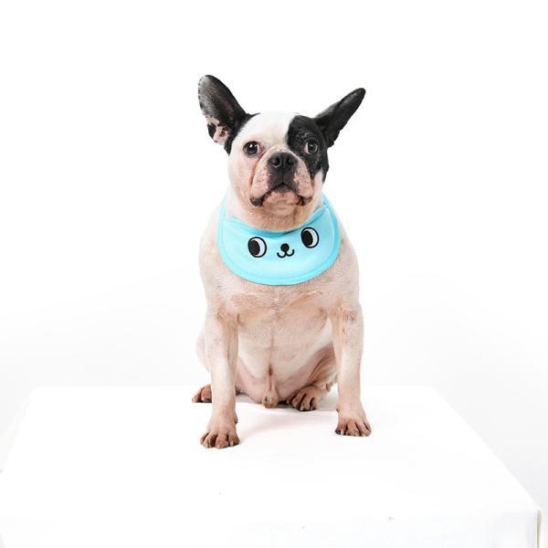 クールスカーフ 4Color / 保冷剤2個セット 犬 夏 バンダナ スカーフ ひんやり 暑さ対策 軽量 かわいい 安心 安全 刺繍 クール 涼しい best-friends 05