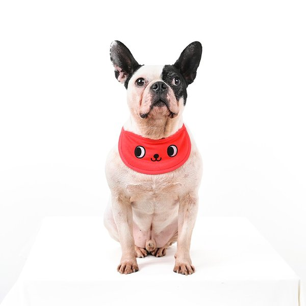 クールスカーフ 4Color / 保冷剤2個セット 犬 夏 バンダナ スカーフ ひんやり 暑さ対策 軽量 かわいい 安心 安全 刺繍 クール 涼しい best-friends 09
