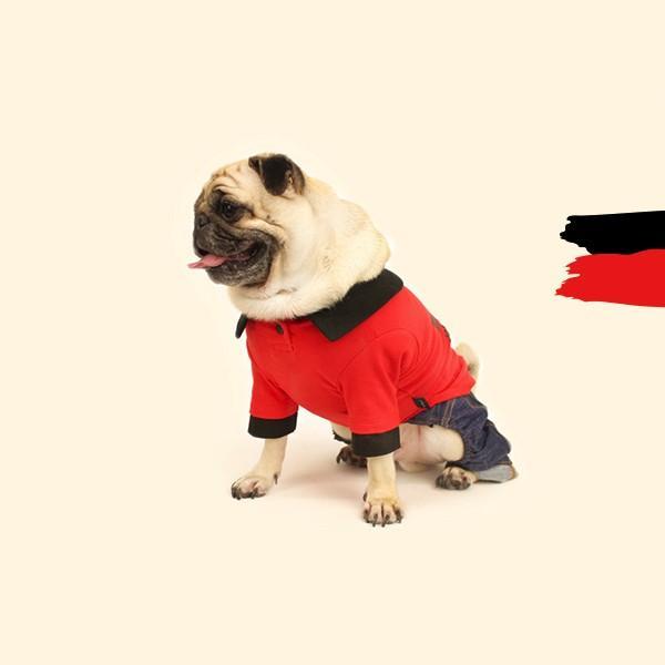 エンボスプリント ツートン ポロシャツ     S,SM,M,L,XL,XXL 犬 服 犬の服 ドッグウェア ポロ ポロT ポロシャツ Tシャツ 綿100%|best-friends|07