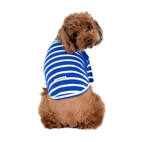ストレッチボーダーTS      犬 服 犬の服 ドッグウェア Tシャツ ボーダー 薄手 コットン 綿 生地 伸縮 伸びる シンプル|best-friends|05