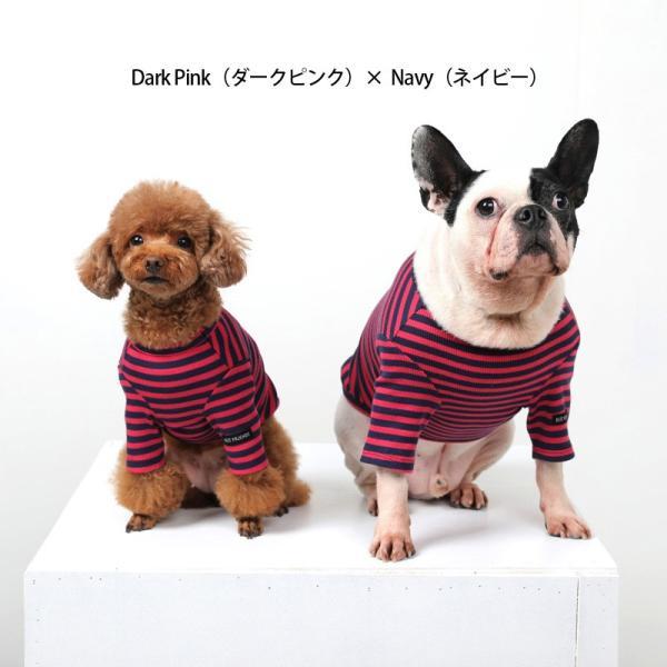 BF ボーダーTS   犬 服 犬の服 ドッグウェア Tシャツ ボーダー コットン 綿 生地 伸縮 伸びる シンプル|best-friends|02