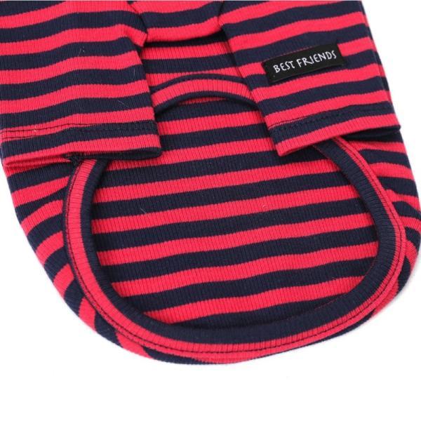 BF ボーダーTS   犬 服 犬の服 ドッグウェア Tシャツ ボーダー コットン 綿 生地 伸縮 伸びる シンプル|best-friends|13
