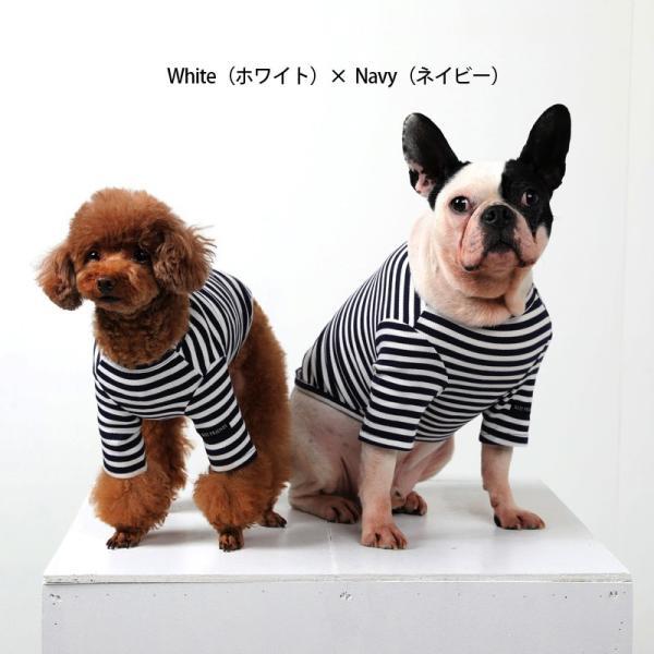 BF ボーダーTS   犬 服 犬の服 ドッグウェア Tシャツ ボーダー コットン 綿 生地 伸縮 伸びる シンプル|best-friends|06