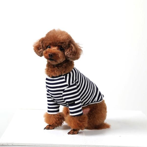 BF ボーダーTS   犬 服 犬の服 ドッグウェア Tシャツ ボーダー コットン 綿 生地 伸縮 伸びる シンプル|best-friends|07