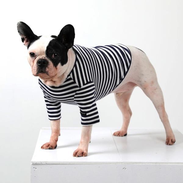 BF ボーダーTS   犬 服 犬の服 ドッグウェア Tシャツ ボーダー コットン 綿 生地 伸縮 伸びる シンプル|best-friends|08