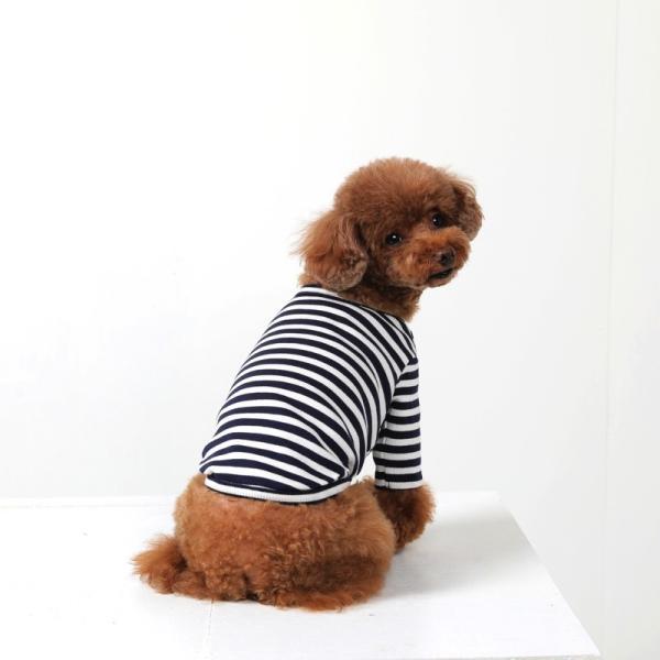 BF ボーダーTS   犬 服 犬の服 ドッグウェア Tシャツ ボーダー コットン 綿 生地 伸縮 伸びる シンプル|best-friends|09