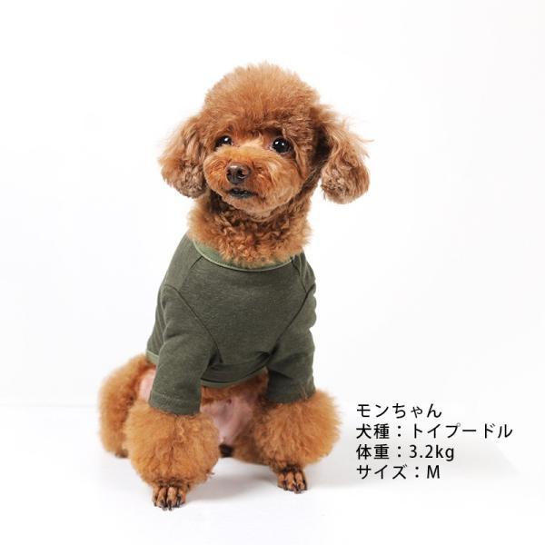 BF コットンカーキTS       犬 服 犬の服 ドッグウェア Tシャツ シンプル ライン  薄手 コットン 綿 生地 伸縮 伸びる 無地|best-friends|02